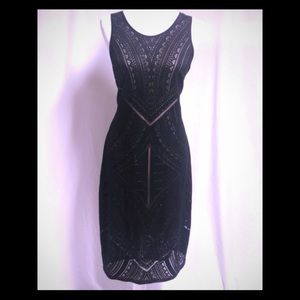 Black/nude Mossimo racerback sleeveless dress